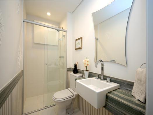 Dominó  Large Bela Vista -> Banheiro Decorado Social